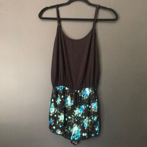 Joe B Black And Floral Romper